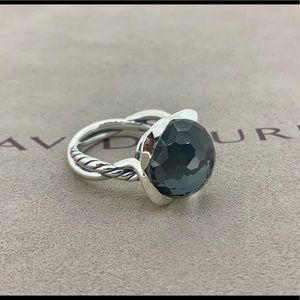 David Yurman Continues Ring Hematite & Chrystal